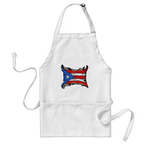 Puerto Rico Flag of Reggaeton Adult Apron