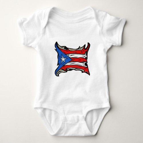 Puerto Rico Flag of Reggaeton Baby Bodysuit