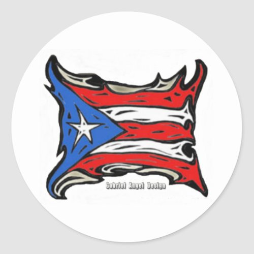 Puerto Rico Flag of Reggaeton Classic Round Sticker