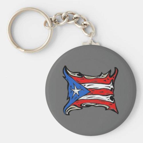 Puerto Rico Flag of Reggaeton Keychain