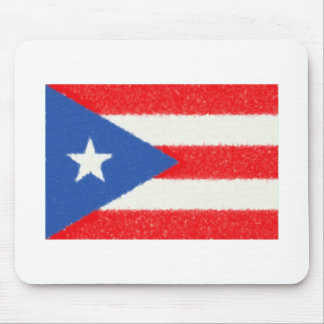 Puerto Rico Flag Oil Painting Mouse Pad