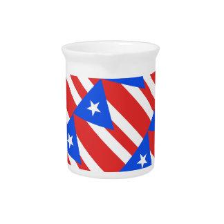 Puerto Rico Flag Pitchers