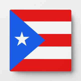Puerto Rico Flag Plaque
