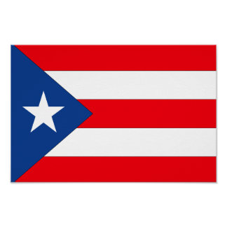 Puerto Rico Flag - Poster