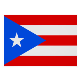 Puerto Rico Flag Poster