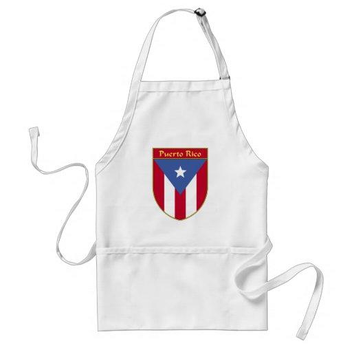 Puerto Rico Flag Shield Adult Apron