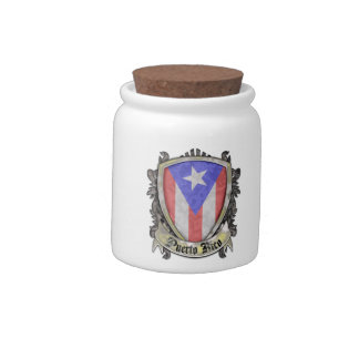 Puerto Rico Flag - Shield Crest Candy Dishes