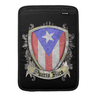 Puerto Rico Flag - Shield Crest Sleeve For MacBook Air
