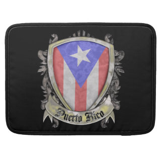 Puerto Rico Flag - Shield Crest MacBook Pro Sleeves