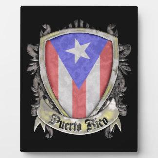 Puerto Rico Flag - Shield Crest Plaque
