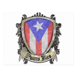 Puerto Rico Flag - Shield Crest Postcards