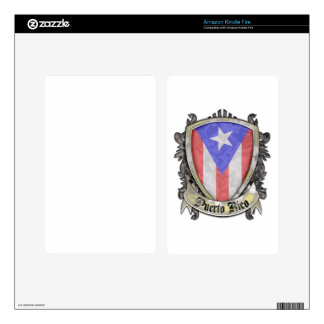 Puerto Rico Flag - Shield Crest Kindle Fire Decal