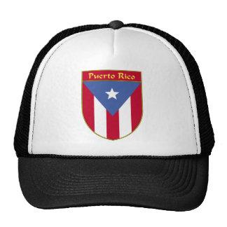 Puerto Rico Flag Shield Trucker Hat