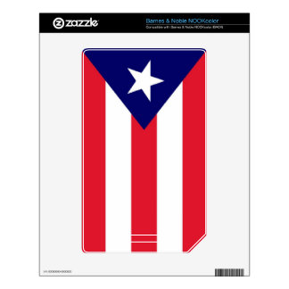 Puerto Rico Flag Skins For NOOK Color