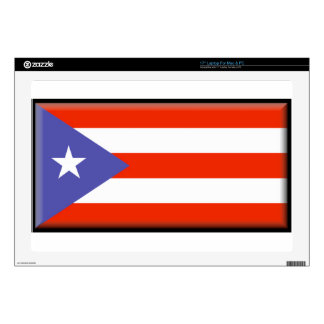 Puerto Rico Flag Decal For Laptop