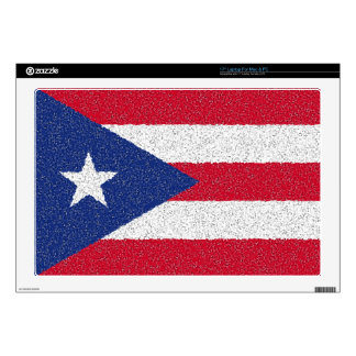 """PUERTO RICO FLAG DECALS FOR 17"""" LAPTOPS"""
