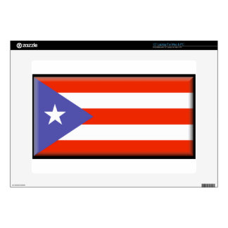 """Puerto Rico Flag Decal For 15"""" Laptop"""