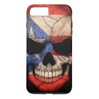 Puerto Rico Flag Skull on Black iPhone 7 Plus Case