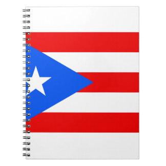 Puerto Rico Flag Spiral Note Book