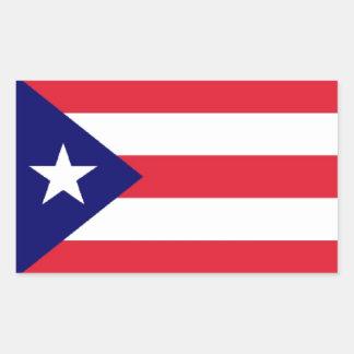 Puerto Rico Flag Rectangle Sticker