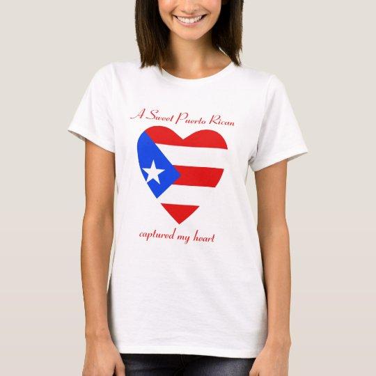 Puerto Rico Flag Sweetheart T-Shirt
