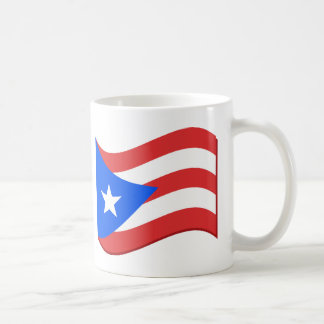 Puerto Rico Flag Waving Tees and Gifts Classic White Coffee Mug