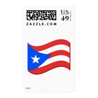 Puerto Rico Flag Waving Tees and Gifts Postage Stamps