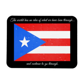 Puerto Rico Flag with Rain Drops Magnet
