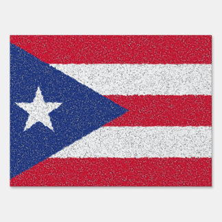 PUERTO RICO FLAG LAWN SIGN