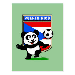 Postcard with Puerto Rico Football Panda design