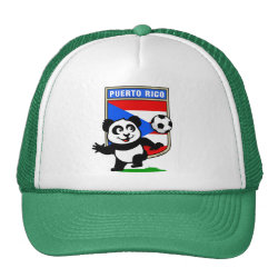 Trucker Hat with Puerto Rico Football Panda design