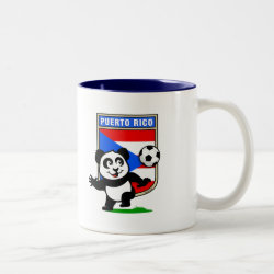 Two-Tone Mug with Puerto Rico Football Panda design