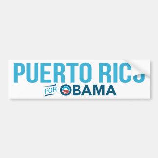 Puerto Rico For Barack Obama Biden Bumper Sticker