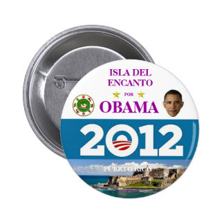 PUERTO RICO FOR OBAMA IN 2012 PINBACK BUTTON