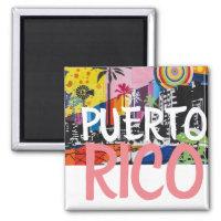 Puerto Rico Fridge Magnet