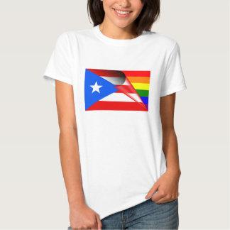 Puerto Rico Gay Pride Rainbow Flag Shirt