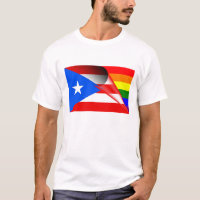 Puerto Rico Gay Pride Rainbow Flag T-Shirt