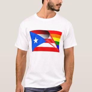 eef978cfa41c Puerto Rico Gay Pride Rainbow Flag T-Shirt