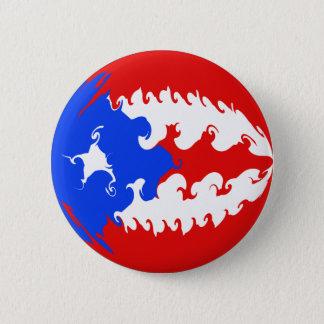Puerto Rico Gnarly Flag Button
