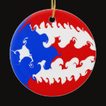 Puerto Rico Gnarly Flag Ceramic Ornament