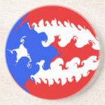 Puerto Rico Gnarly Flag Sandstone Coaster