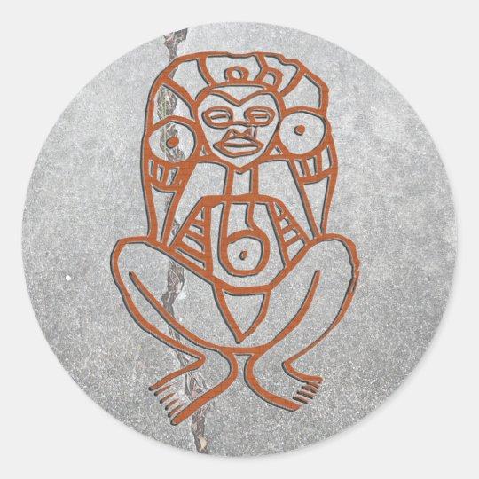 Puerto Rico - goddess Classic Round Sticker
