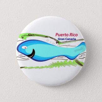 Puerto rico Gran Canaria Souvenirs Button