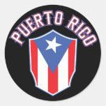 Puerto Rico grande e intrépido Pegatina Redonda