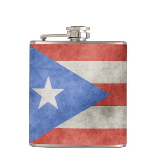 Puerto Rico Grunge Flag Flask