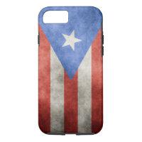 Puerto Rico Grunge Flag iPhone 7 Case