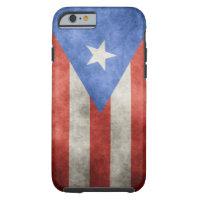 Puerto Rico Grunge Flag Tough iPhone 6 Case
