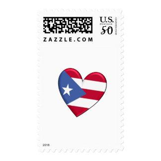 Puerto Rico Heart Flag Postage