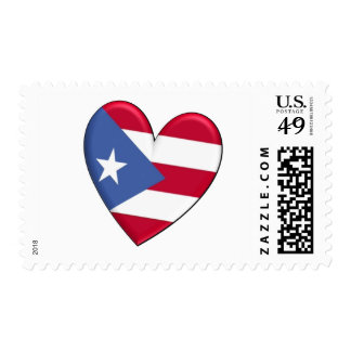 Puerto Rico Heart Flag Stamp