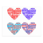Puerto Rico Hearts Products Postcard